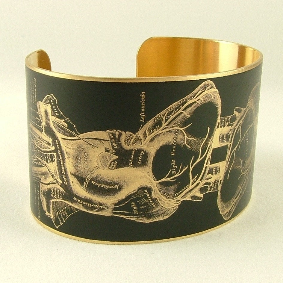 Anatomical Heart Cuff Bracelet