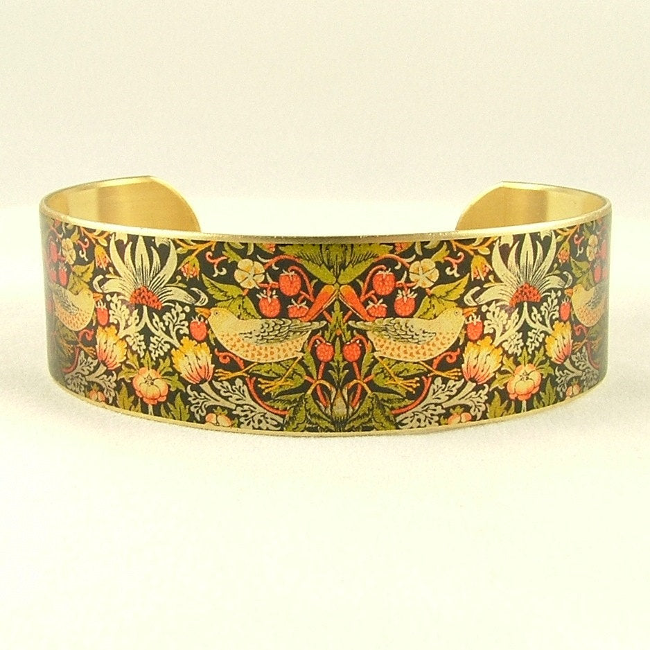 Strawberry Thief William Morris Cuff Bracelet-