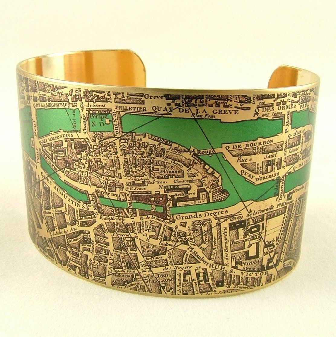 Paris Street Map Cuff Bracelet