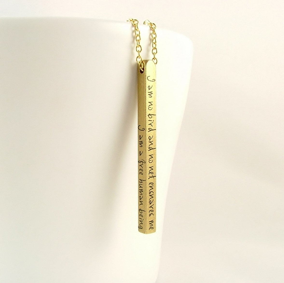 Jane Eyre Bar Necklace