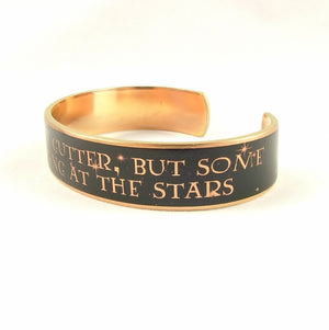 Oscar Wilde's We Are All In The Gutter Cuff Bracelet