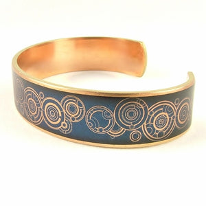 Dr Who Gallifreyan Blue Cuff Bracelet