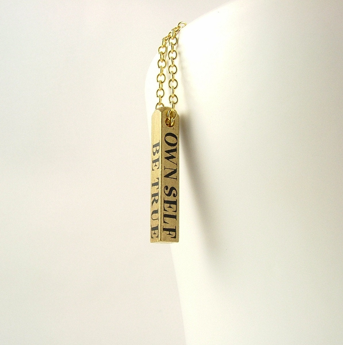 Shakespeare's Hamlet Bar Necklace