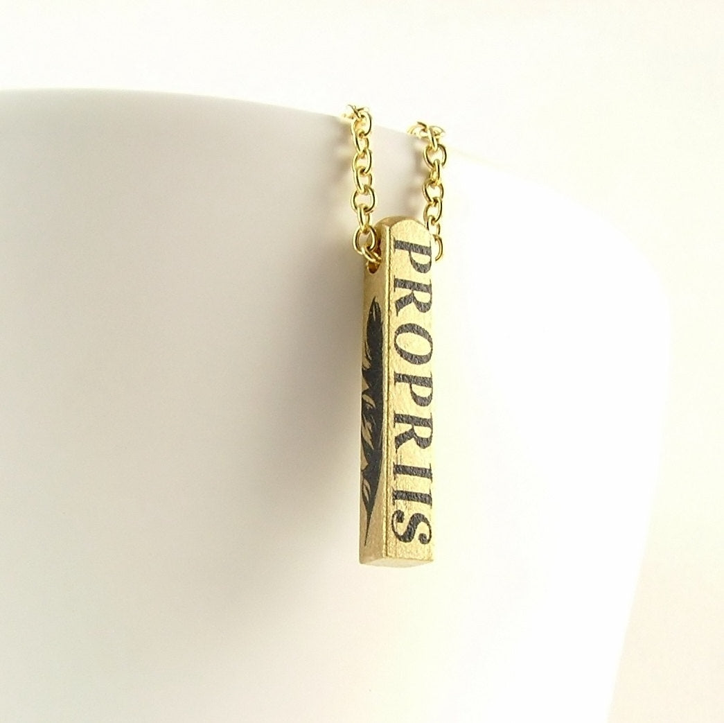 Alis Volat Propriis Bar Necklace