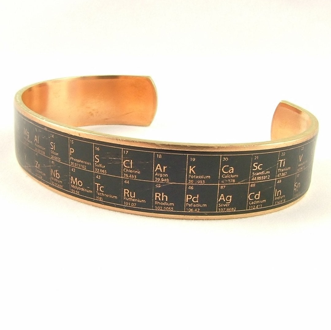 Periodic Table of Elements Skinny Cuff Bracelet