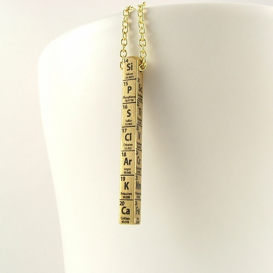 Periodic Table of Elements Necklace