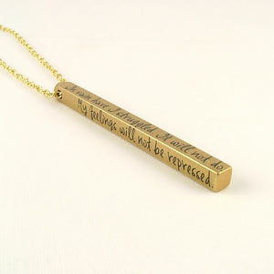 Pride and Prejudice Bar Necklace
