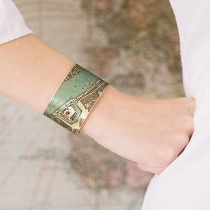 Elizabethan London Map Cuff Bracelet