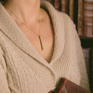Wuthering Heights Bar Necklace