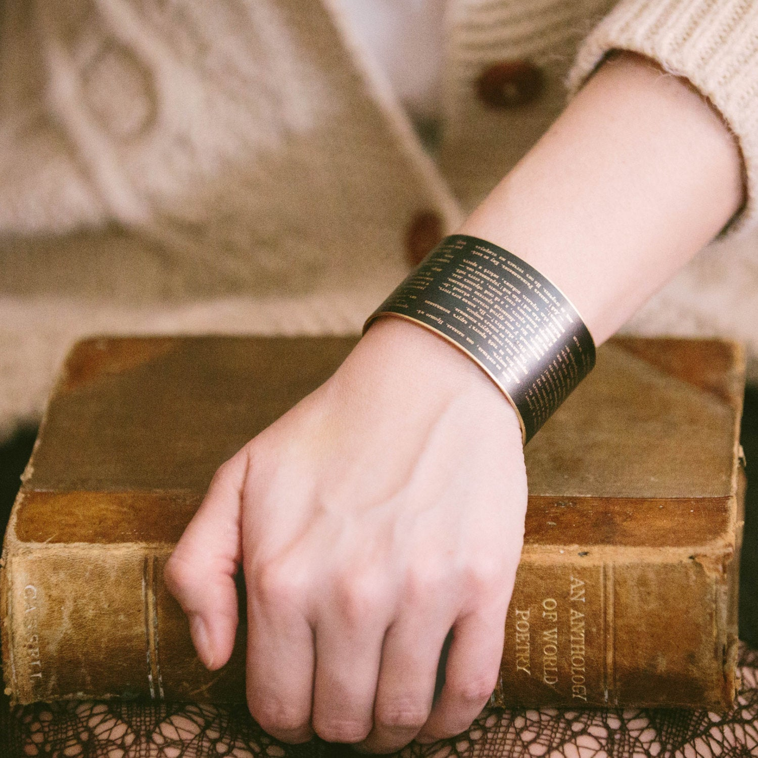Dostoevsky Crime and Punishment Cuff Bracelet