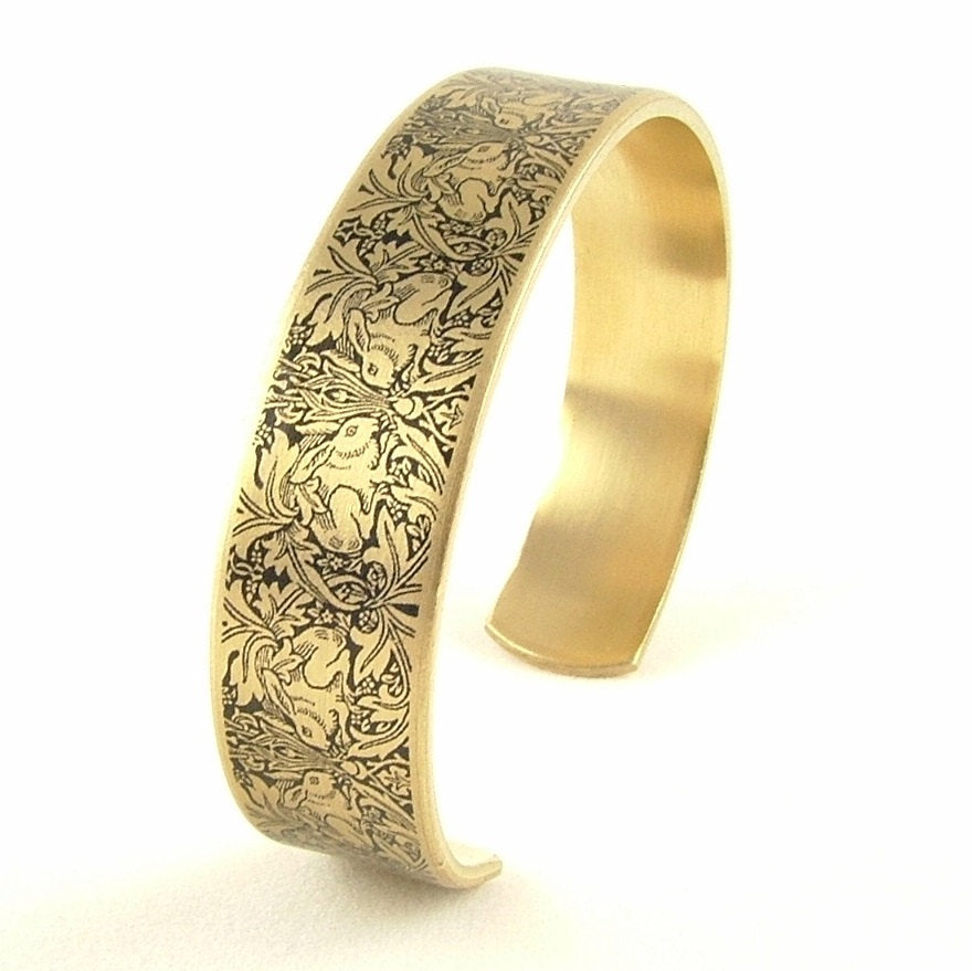 William Morris Brer Rabbit Cuff Bracelet