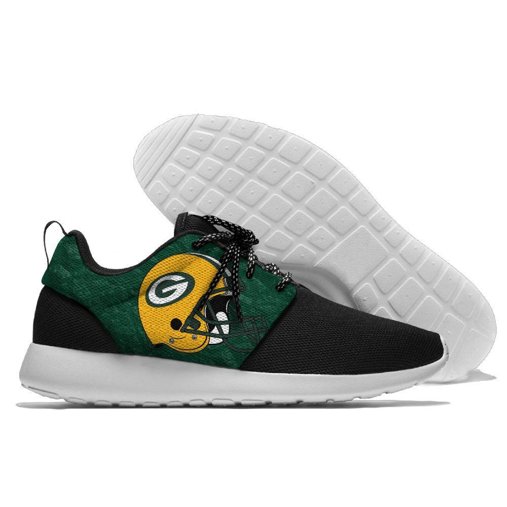 best sneakers 6d76a aaddc 15% OFF NFL Football Men Women Running Shoes Sneaker Lightweight Green Bay  Packers Walking Cool ...