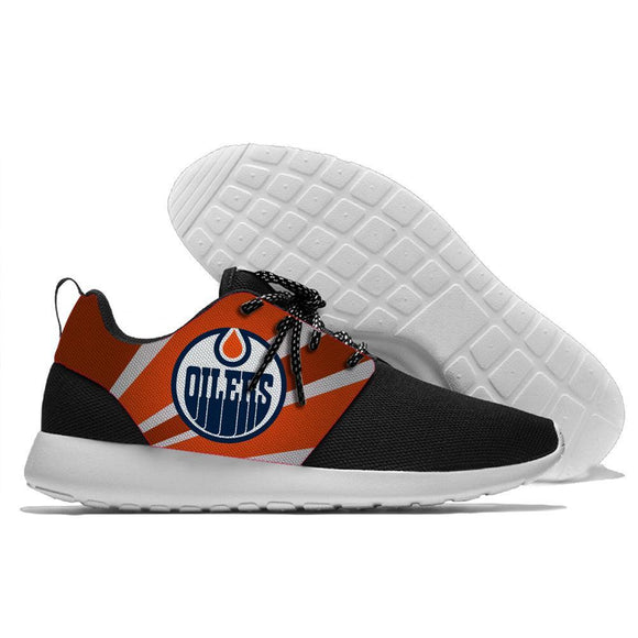 Hot Sale NHL Shoes Sneaker Lightweight Edmonton Oilers Running Shoes Super Comfort-Running Shoes-4 Fan Shop