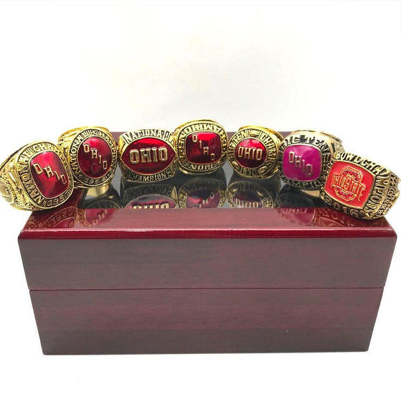 1952 1954 1961 1968 1970 1977 2016 Ohio State Buckeyes Championship Ring Set