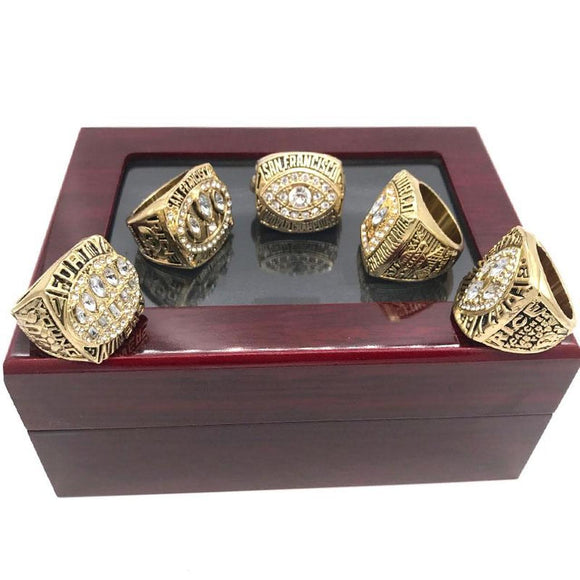 1981 1984 1988 1989 1994 San Francisco 49Ers Super Bowl Rings Set