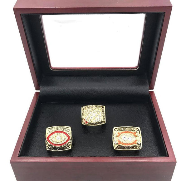 Set 3PCS 1982 1987 1991 Washington Redskins Super Bowl Rings
