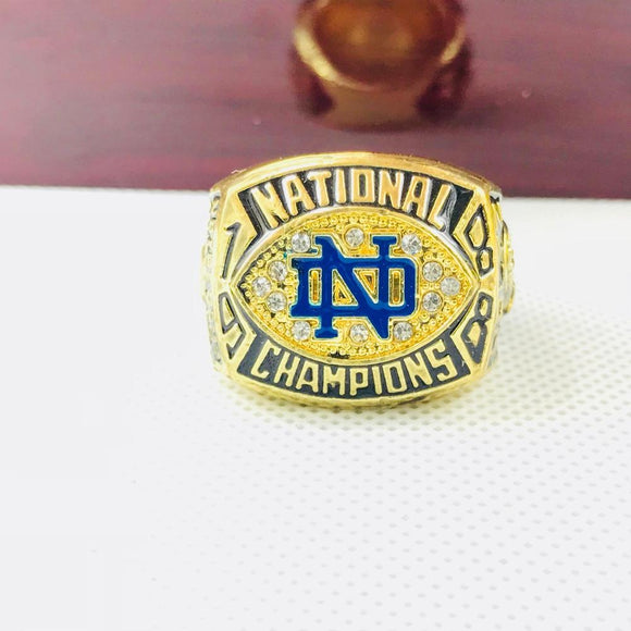 NCAA 1988 Notre Dame Fighting Irish Championship Ring-Ring-4 Fan Shop
