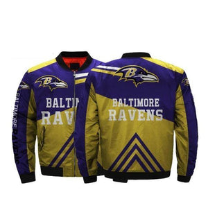 NFL Football Baltimore Ravens Jacket Mens Bomber Jacket Coat-jacket-4 Fan Shop