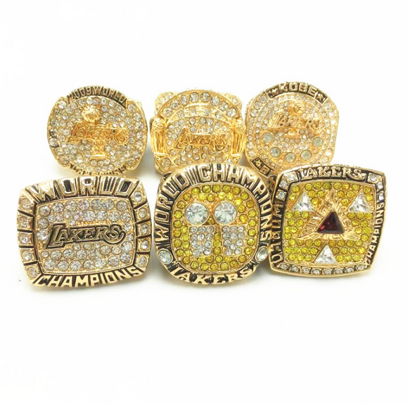 2000 2001 2002 2009 2010 2016 Los Angeles Lakers Championship Rings Set
