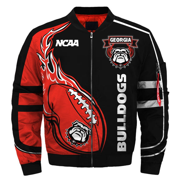 2019 Newest NCAA Jacket Custom Georgia Bulldogs Jackets For Mens-jacket-4 Fan Shop