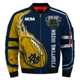 2019 Newest NCAA Jacket Custom Notre Dame Fighting Irish Jacket Cheap-jacket-4 Fan Shop