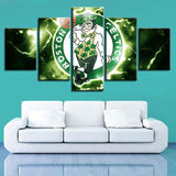 5 Panel Boston Celtics Wall Art Cheap For Living Room Wall Decor-canvas paintings-4 Fan Shop