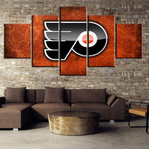 5 Panel Philadelphia Flyers Canvas Wall Art Painting For Living Room Bedroom-canvas paintings-4 Fan Shop