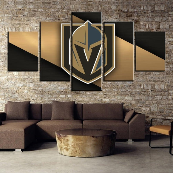 5 Panel Vegas Golden Knights Canvas Wall Art For Wall Decor-canvas paintings-4 Fan Shop