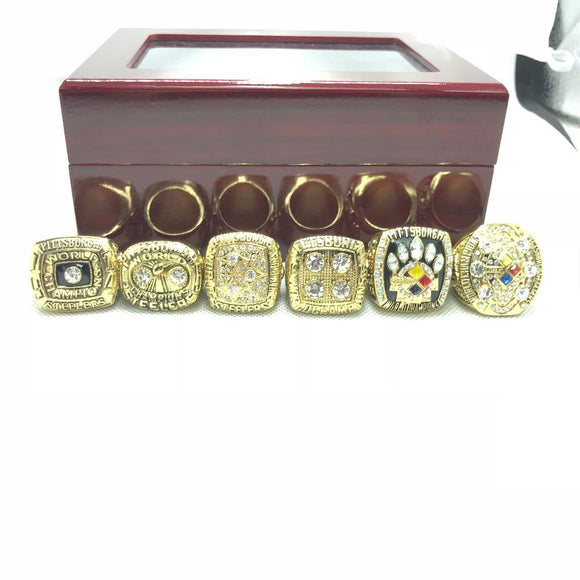 1974 1975 1978 1979 2005 2008 Pittsburgh Steelers 6 Rings-4 Fan Shop