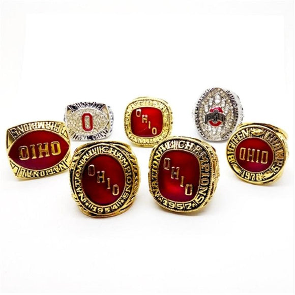 1954 1957 1961 1968 1970 2002 2014 Ohio State Buckeyes Rings Set-Ring-4 Fan Shop