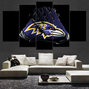 Baltimore Ravens Canvas Wall Art Gloves For Living Room Wall Decor-canvas paintings-4 Fan Shop