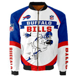 Buffalo Bills Bomber Jacket Graphic Player Running-4 Fan Shop