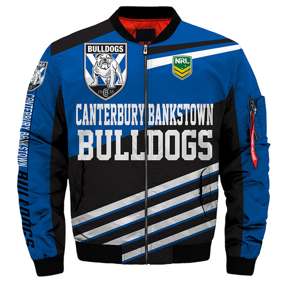 Canterbury-Bankstown Bulldogs Jacket 3D Full-zip Jackets-jacket-4 Fan Shop