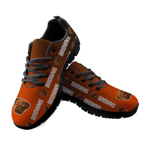 Cleveland Browns Sneakers Repeat Print Logo Low Top Shoes-Shoes-4 Fan Shop
