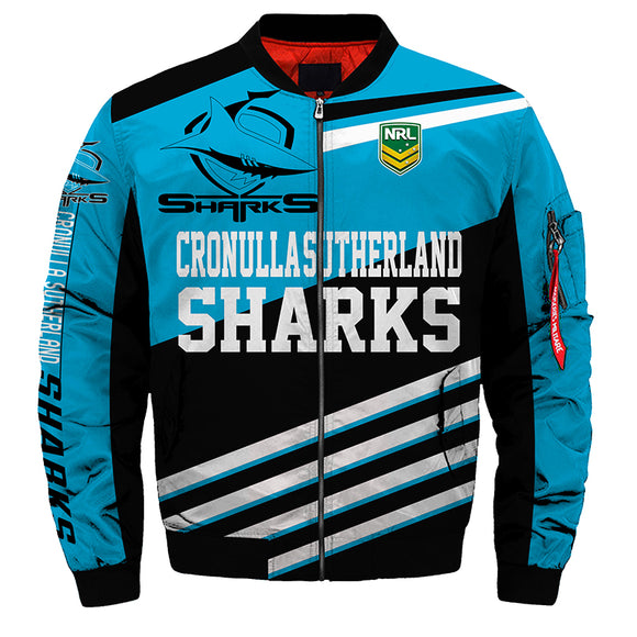 Cronulla-Sutherland Sharks Jacket 3D Full-zip Jackets-jacket-4 Fan Shop