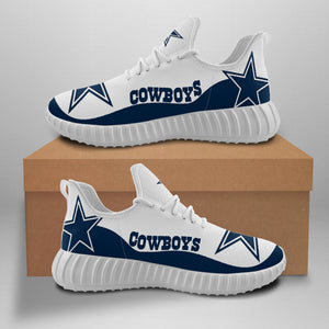 Dallas Cowboys Yeezy Sneakers Running Shoes For Women-Shoes-4 Fan Shop