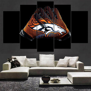 Denver Broncos Canvas Wall Art Gloves For Living Room Wall Decor-canvas paintings-4 Fan Shop
