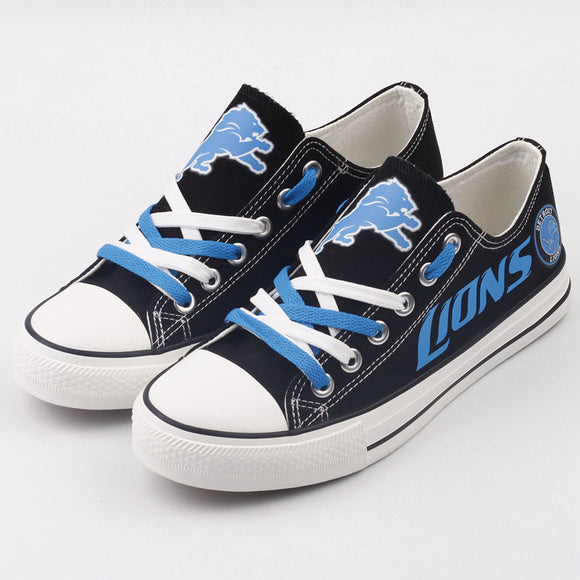 Detroit Lions Custom Shoes Low Top Canvas Shoes-Shoes-4 Fan Shop