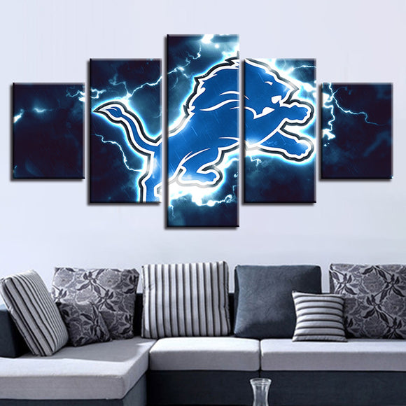 Detroit Lions Canvas Wall Art Cheap For Living Room Wall Decor-canvas paintings-4 Fan Shop