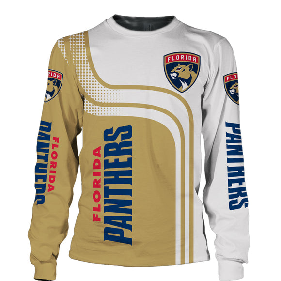 Florida Panthers Crew Neck Sweatshirt 3D Long Sleeve-Sweatshirt-4 Fan Shop