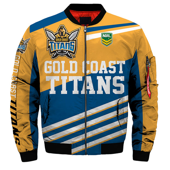 Gold Coast Titans Jacket 3D Full-zip Jackets-jacket-4 Fan Shop