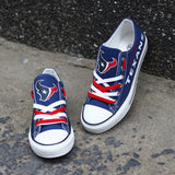 Houston Texans Men's Shoes Low Top Canvas Shoes-Shoes-4 Fan Shop