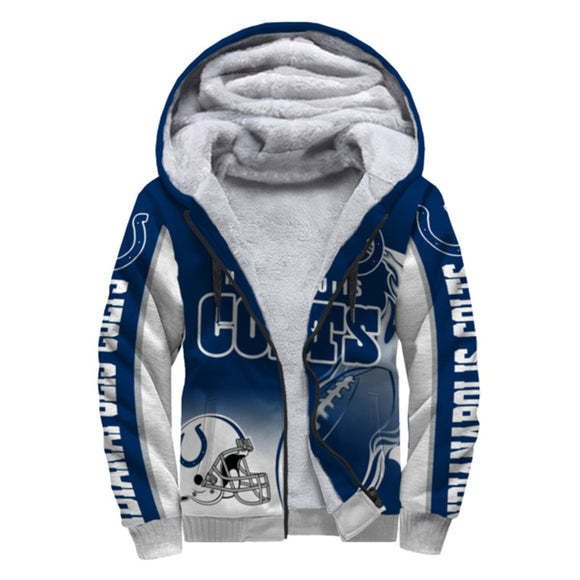Indianapolis Colts Fleece Jacket Printed Ball Flame 3D-jacket-4 Fan Shop