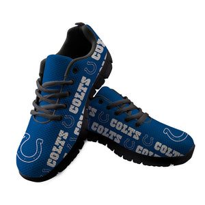 Indianapolis Colts Sneakers Repeat Print Logo Low Top Shoes-Shoes-4 Fan Shop