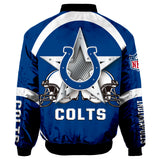 Indianapolis Colts Bomber Jacket Graphic Player Running-jacket-4 Fan Shop