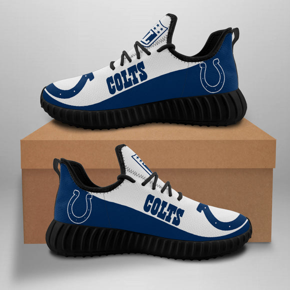 Indianapolis Colts Sneakers Big Logo Yeezy Shoes-Shoes-4 Fan Shop
