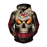 Kansas City Chiefs Hoodies Eye Rugby Ball Skull Hoodies-Sweatshirt-4 Fan Shop