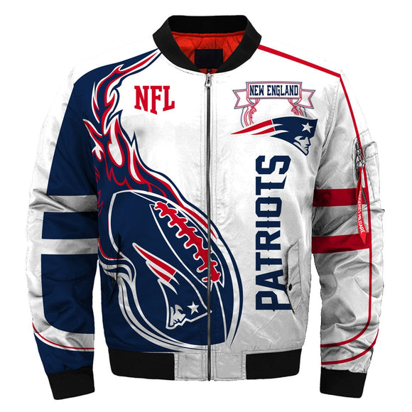 Latest Design 2019 Bomber Jacket Custom New England Patriots Jacket For Sale-jacket-4 Fan Shop