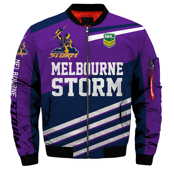 Melbourne Storm Jacket 3D Full-zip Jackets-jacket-4 Fan Shop