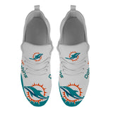 Miami Dolphins Sneakers Big Logo Yeezy Shoes-Shoes-4 Fan Shop